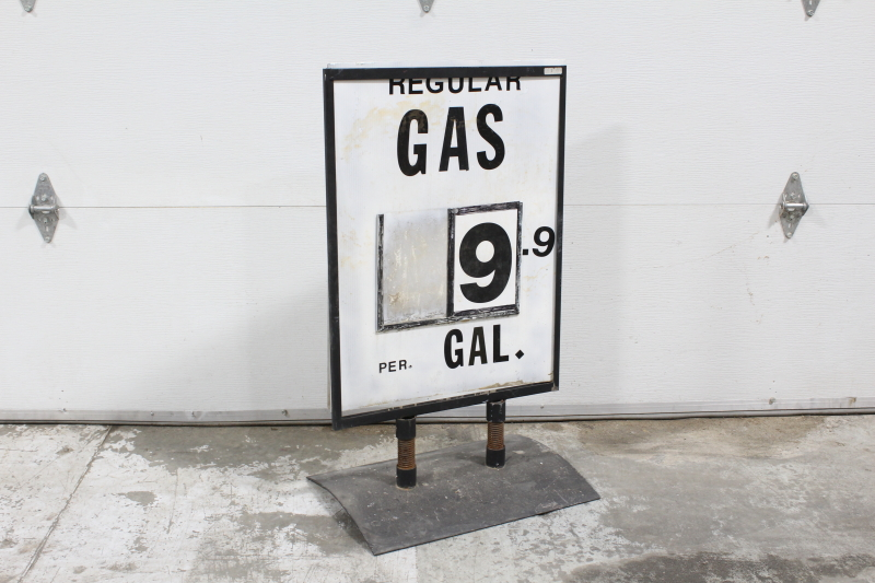 sign gas station gas station price sign freestanding aged distressed