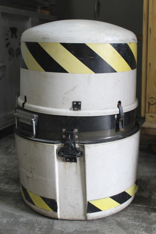 Case Misc Biohazard Case W Black Yellow Tape Portable