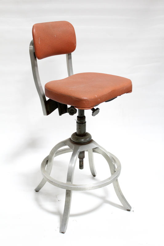 chair office goodform drafting modern orange seat back brushed