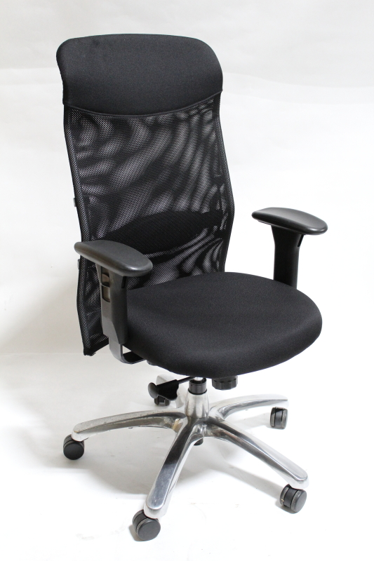 Chair Office Mesh Back W Arms Chrome Base Rolling Metal