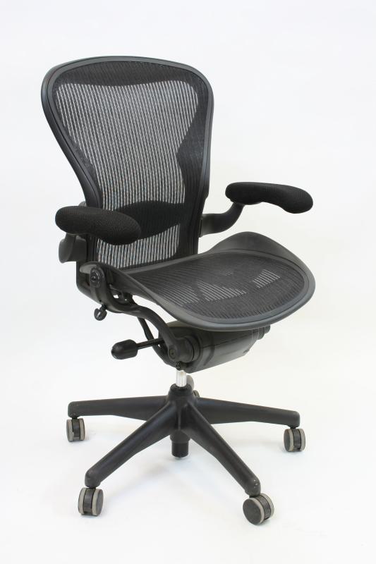 Chair Office Aeron Ergonomic Woven Mesh Seat Back Grey