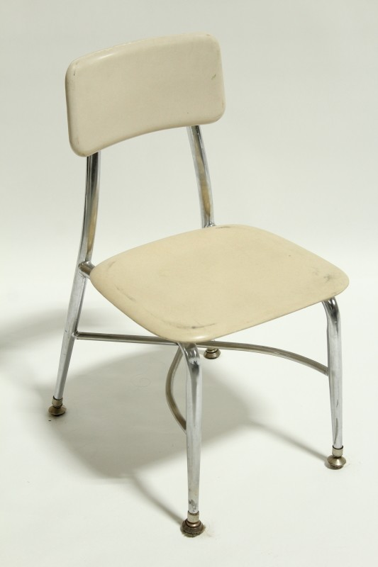 Chair Child S Vintage Small Kid Size Plain Seat Back Metal