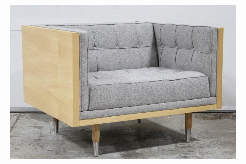 Chair Armchair Modern Box Chair Outer Wood Frame Ash