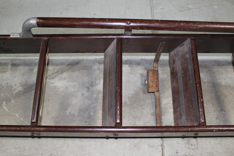 Ladder Wood Vintage Library Ladder W Grey Metal Side Rail