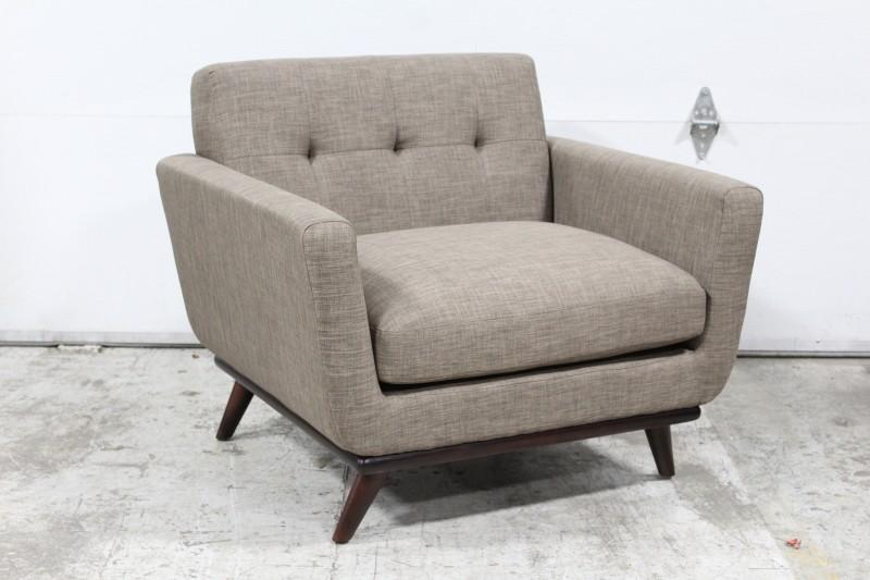 Chair Armchair Modern Brown Tones Button Tufted Cushion