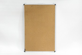 Board, Pin, CORK,SILVER METAL FRAME W/BLACK ROUNDED CORNERS , METAL, SILVER
