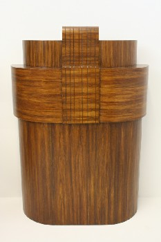 Podium, Misc, LECTERN,CURVED SIDES,STEPPED FRONT,VINTAGE, WOOD, BROWN