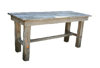 Table, Rustic, THIN LOWER STRETCHER, RUSTIC, WOOD, NATURAL