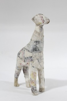 Art, Miscellaneous, GIRAFFE,NEWSPAPER, CRAFT PROJECT , PAPER MACHE, MULTI-COLORED