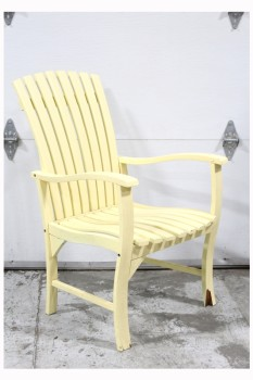 Chair, Rustic , SPACED WOOD SLATS, ARMCHAIR, OUTDOOR/GARDEN/PATIO, WOOD, YELLOW