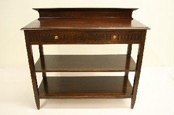 Sideboard, Wood, OAK,2 DRAWERS & 2 LOWER SHELVES , WOOD, BROWN
