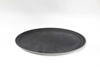 Bar, Tray, LARGE OVAL SERVING TRAY,SLIP RESISTANT SURFACE, RESTAURANT, PLASTIC, GREY