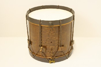 Music, Drum, MARCHING DRUM,ROPED SIDES, PLASTIC, BROWN