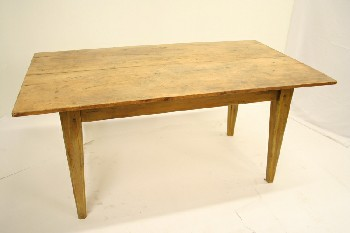 Table, Kitchen, HARVEST STYLE,SQUARE TAPERED LEGS, WOOD, BROWN