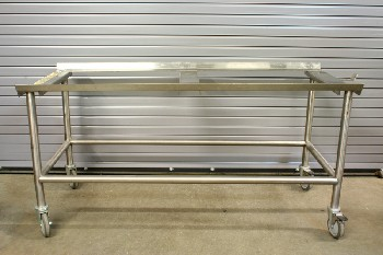 Medical, Morgue, GURNEY,BODY TRANSPORT CART,ROLLING, TRAYS AVAILABLE , STAINLESS STEEL, SILVER
