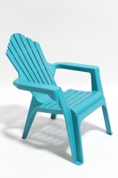 Chair, Child's, KID SIZED ADIRONDACK, OUTDOOR/LAWN/DECK , PLASTIC, BLUE