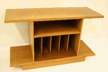 Stand, TV, TEAK, LOWER SHELVES HOLD RECORDS/ALBUMS, VINTAGE, ENTERTAINMENT CENTER , WOOD, BROWN