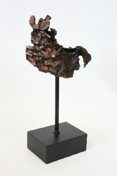 Science/Nature, Wood, CHUNKY PIECE OF DRIFTWOOD ON BLACK BASE , WOOD, BROWN