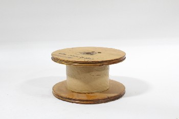 Spool, Miscellaneous, WOOD SPOOL,STILL WRAPPED, WOOD, BROWN