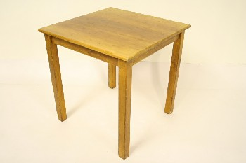 Table, Misc, SQUARE TOP W/SQUARE LEGS (Not Exactly As Pictured, Has Been Painted), WOOD, BROWN