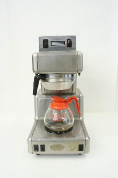 Restaurant, Appliance, COFFEEMAKER,1 BURNER W/FUNNEL,CARAFE SEPARATE, STAINLESS STEEL, SILVER