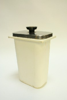 Restaurant, Dispenser, SYRUP CONTAINER W/SILVER METAL LID,