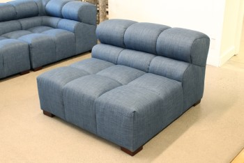 Sofa, Sectional, MODERN, INTERCHANGABLE SEATING MIDDLE MODULE , FABRIC, BLUE