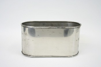 Medical, Container, OVAL CONTAINER, AGED, STAINLESS STEEL, SILVER