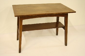 Table, Side, MAHOGANY,REC TOP,LOWER SHELF, WOOD, BROWN