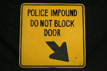 Sign, Police,