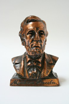 Statuary, Bust, ABRAHAM LINCOLN, METAL, COPPER