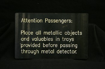 Sign, Airport,
