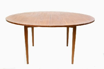 Table, Dining, MID-CENTURY MODERN,OVAL SHAPE,TAPERED LEGS,2x19.5