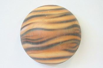 Wall Dec, Planet, JUPITER,SPACE/SOLAR SYSTEM,STRIPED,WALLMOUNT,HALF CIRCLE W/FLAT BACK, AGED , PLASTIC, ORANGE