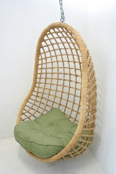 Chair, Misc, HANGING PATIO SWING,BASKET CHAIR , RATTAN, NATURAL