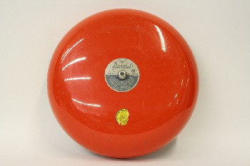 Fire, Bell, ROUND W/BASE MOUNT, METAL, RED
