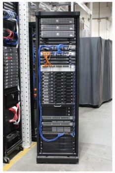 Server, Server Rack, MODERN HIGH-TECH COMPUTER SERVER RACK, COLOURED WIRES, ROLLING (Components May Not Be Identical To Cabinet Shown) , METAL, BLACK