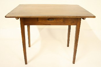 Table, Kitchen, 1 DRAWER,TAPERED SQUARE LEGS, WOOD, BROWN
