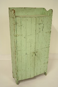 Cabinet, Wood, 2 DOOR,RUSTIC,AGED/DISTRESSED, WOOD, GREEN