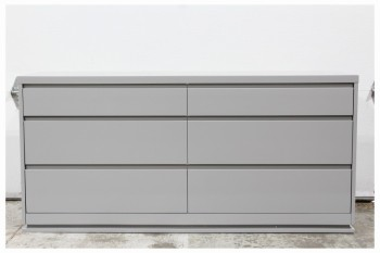 Dresser, Miscellaneous, MODERN,6 DRAWERS GRADUATED SIZES,MATTE FINISH, NO LEGS , WOOD, GREY