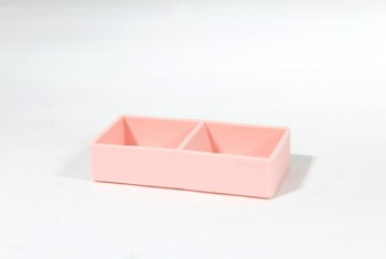 Desktop, Paper Clip Holder, PLAIN W/COMPARTMENTS, SILICONE, PINK