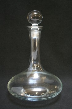 Bar, Decanter, PLAIN,FLARED BOTTOM,BALL STOPPER, GLASS, CLEAR
