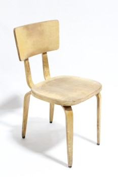 Chair, Side, MOLDED PLYWOOD CHAIR,1950s THONET STYLE, AGED/DISTRESSED, WOOD, BROWN