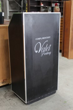 Podium, Tabletop, VALET,SILVER TRIM - Valet Decal Must Be Left On, WOOD, BLACK
