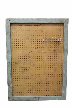 Board, Misc, GARAGE/SHOP,PEG BOARD, AGED , WOOD, BLUE