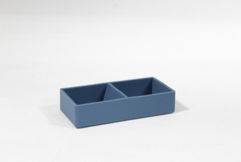 Desktop, Paper Clip Holder, PLAIN W/COMPARTMENTS, SILICONE, DK.BLUE