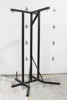 Rack, Miscellaneous, FOR HANGING PUNCHING BAGS, ETC., METAL, BLACK