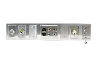 Medical, Misc, OVER BED PANEL W/NURSE CALL & PLUGS, METAL, GREY