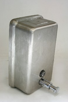 Bathroom, Dispenser, SOAP,BRUSHED,PUMP, WALLMOUNT, AGED , STAINLESS STEEL, SILVER