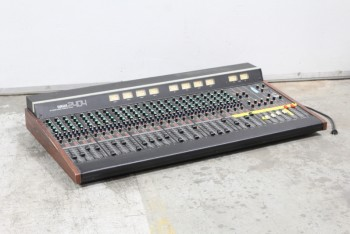 Audio, Mixing Board, VINTAGE ANALOG MIXING CONSOLE,WOOD TRIM,COLOURED BUTTONS & LEVERS, WOOD, BLACK